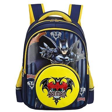 Impermeable Mochila Escolar Para Niños Adolescentes Ligeros Mochilas Para Niños Y Niñas Bolsas Escolares De 3-6 Años,Batman-36 * 28 * 14cm: Amazon.es: Ropa ...