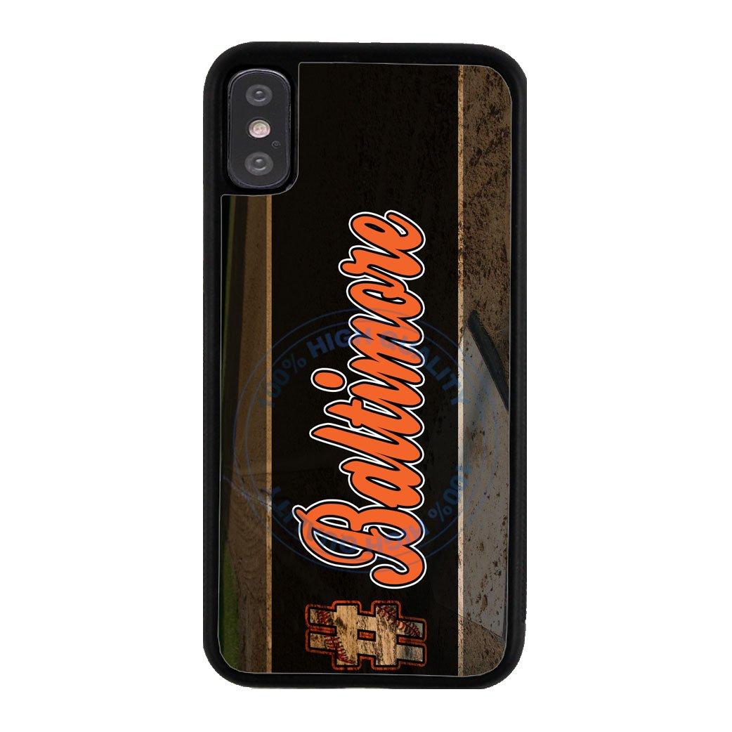 BleuReign Hashtag Baltimore #Baltimore Baseball Team Rubber Phone Case for Apple iPhone X Xs Ten