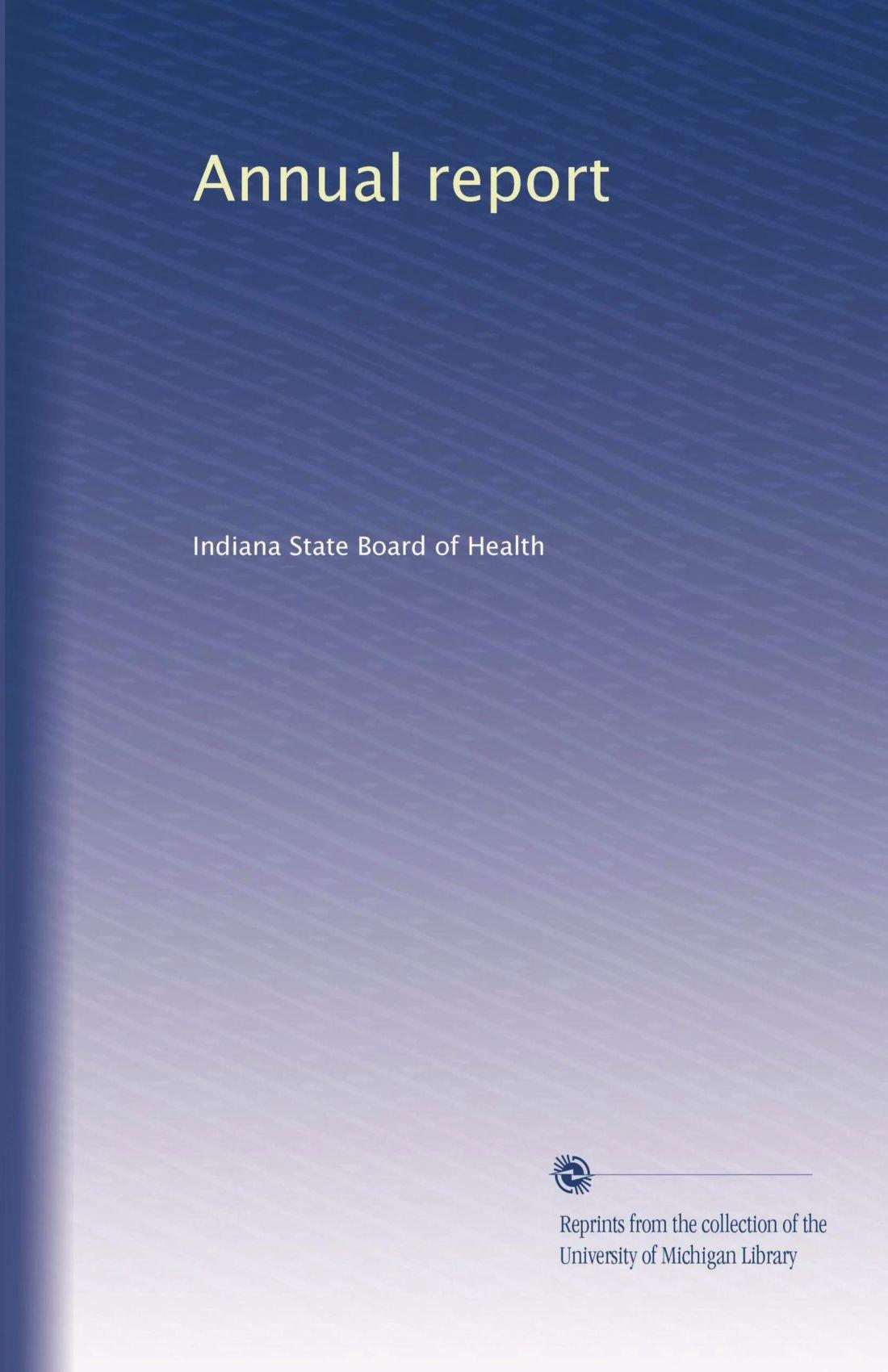 Download Annual report (Volume 30) ebook