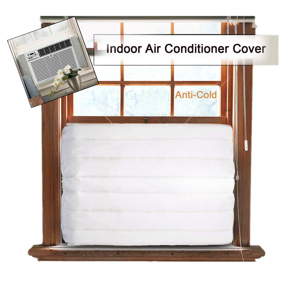 Inverlee Indoor Air Conditioner, White, 17-25L x 13-17W x 2.5H, Cover for Air Conditioner Indoor Unit Anti Cold Cover (White, 21' L x 14' W x 2.5' H) 21 L x 14 W x 2.5 H)