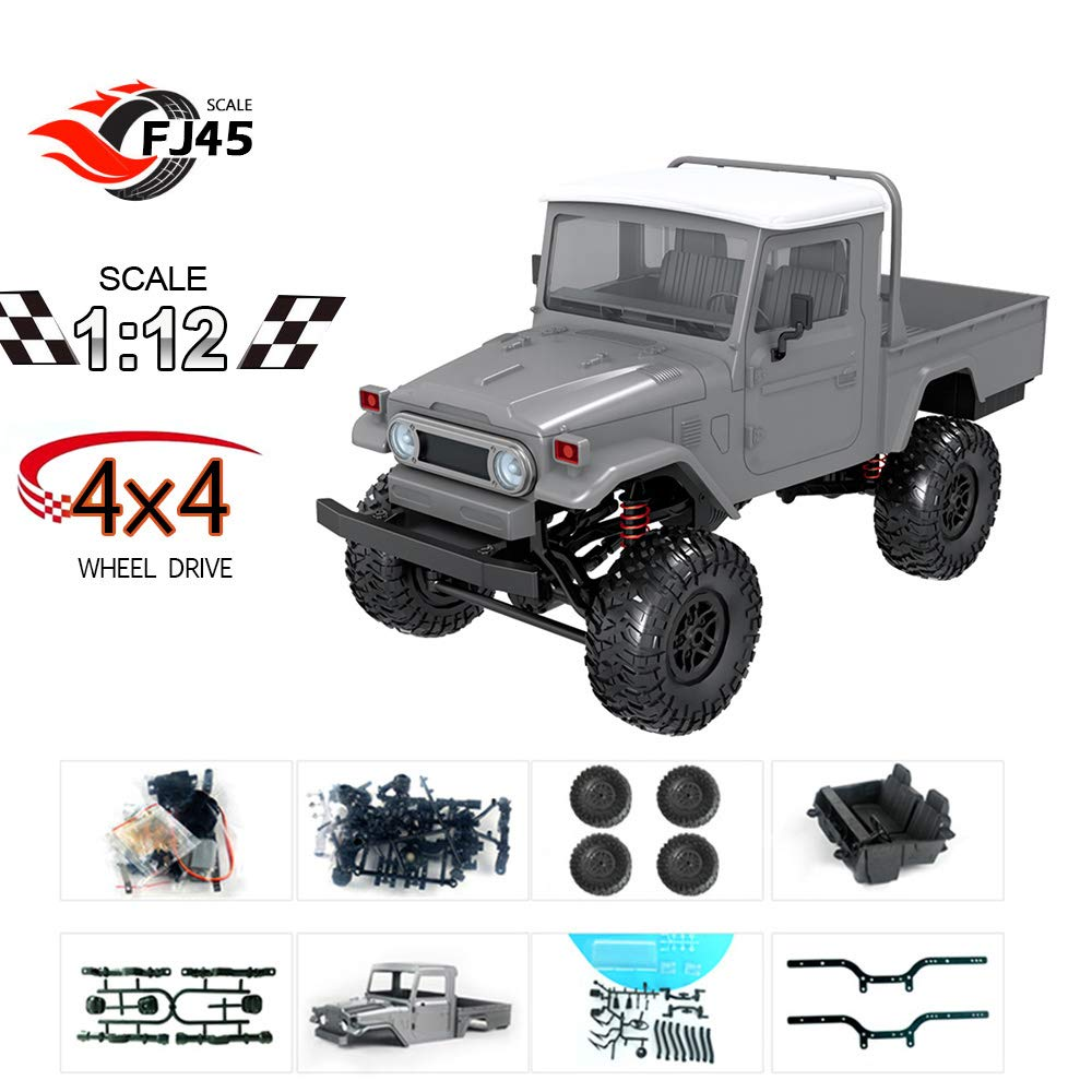 GoolRC MN-45K RC Car 1/12 RC Crawler Racing Off-Road Truck for Kids Adults DIY Play KIT Without Receiver Controller ESC Battery