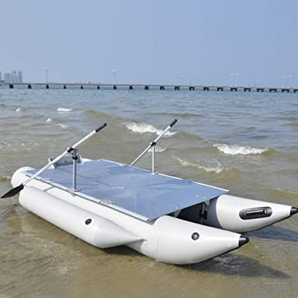 75185b80ce7 Aquos Heavy-Duty 2019 New Thermobonding 0.9mm Thickness PVC 12.5' Inflatable  Pontoon Boat