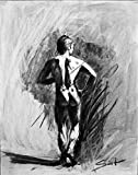 Charcoal Figure Drawing, Nude Art, Naked Male Art, Erotic Art, Erotic, Nude Model, Male Figure Drawing