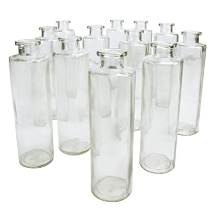 Amazon Cylinder Food Safe Glass Bottles And Bud Vases 7 Inches