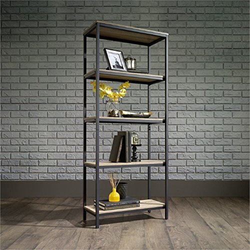 Pemberly Row 4 Shelf Bookcase in Charter Oak
