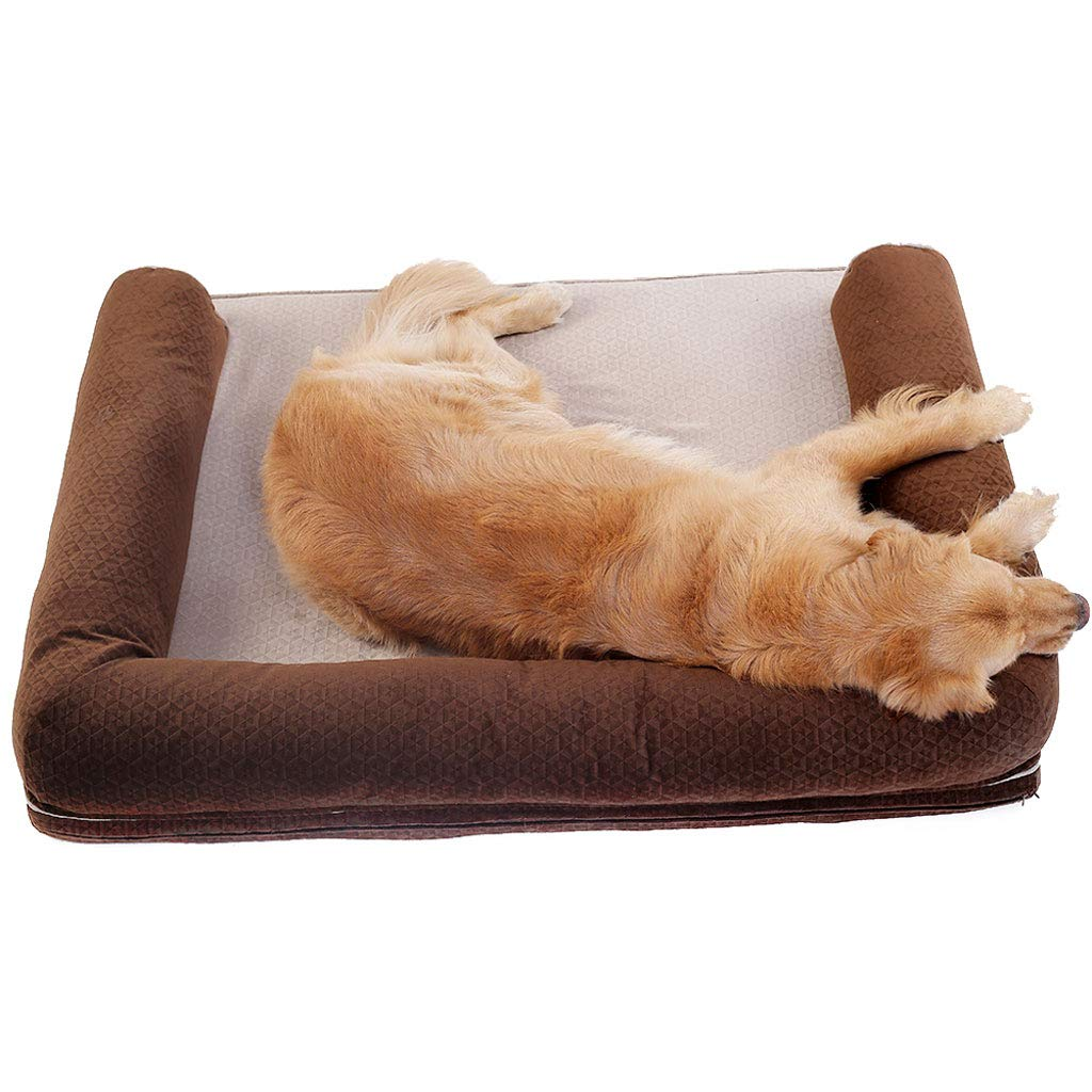 A LBelow 50KGKmgjc The Dog bed, Waterproof, Relieves The Animal's Arthritis and Hip Dysplasia, Can be Cleaned (color   B, Size   LBelow 50KG)