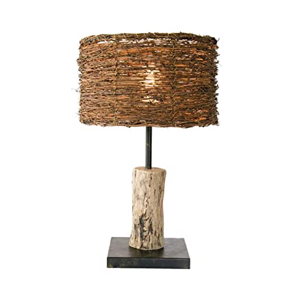 Amazon.com: NJ Tischlampe- European Creative Rattan ...