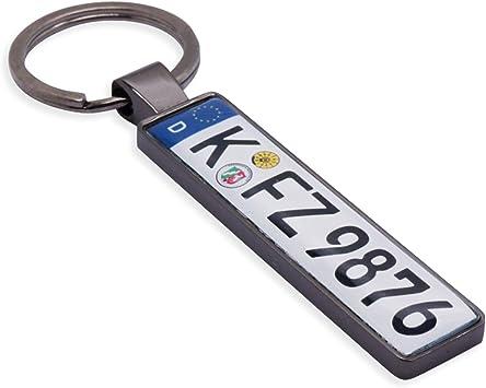 Schlüsselanhänger In Premium Qualität Kfz Autokennzeichen Mini Nummernschild Wunschtext Namen Individuell Personalisiertes Geschenk Für Autoliebhaber Valentinstag Auto