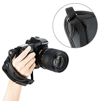 Correa de piel de microfibra para cámara réflex digital Nikon D500 ...