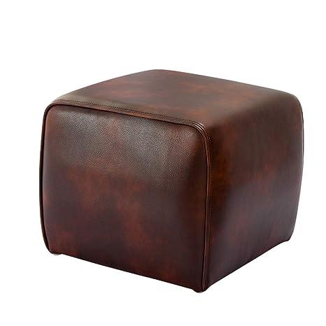 Amazon.com: CHLFSFD Imitation Leather Sofa Stool Sofa Pedal ...