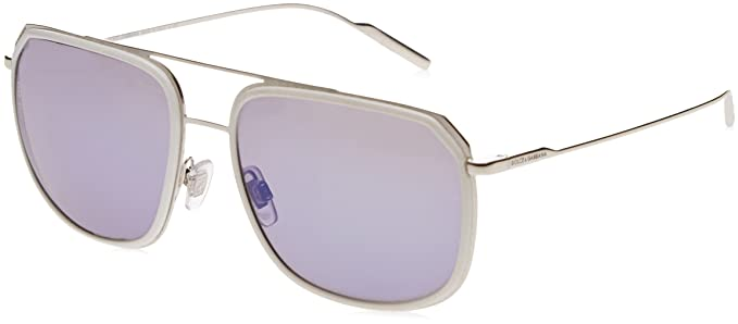 DOLCE & GABBANA 0Dg2165 Gafas de sol, White/Silver, 58 para ...