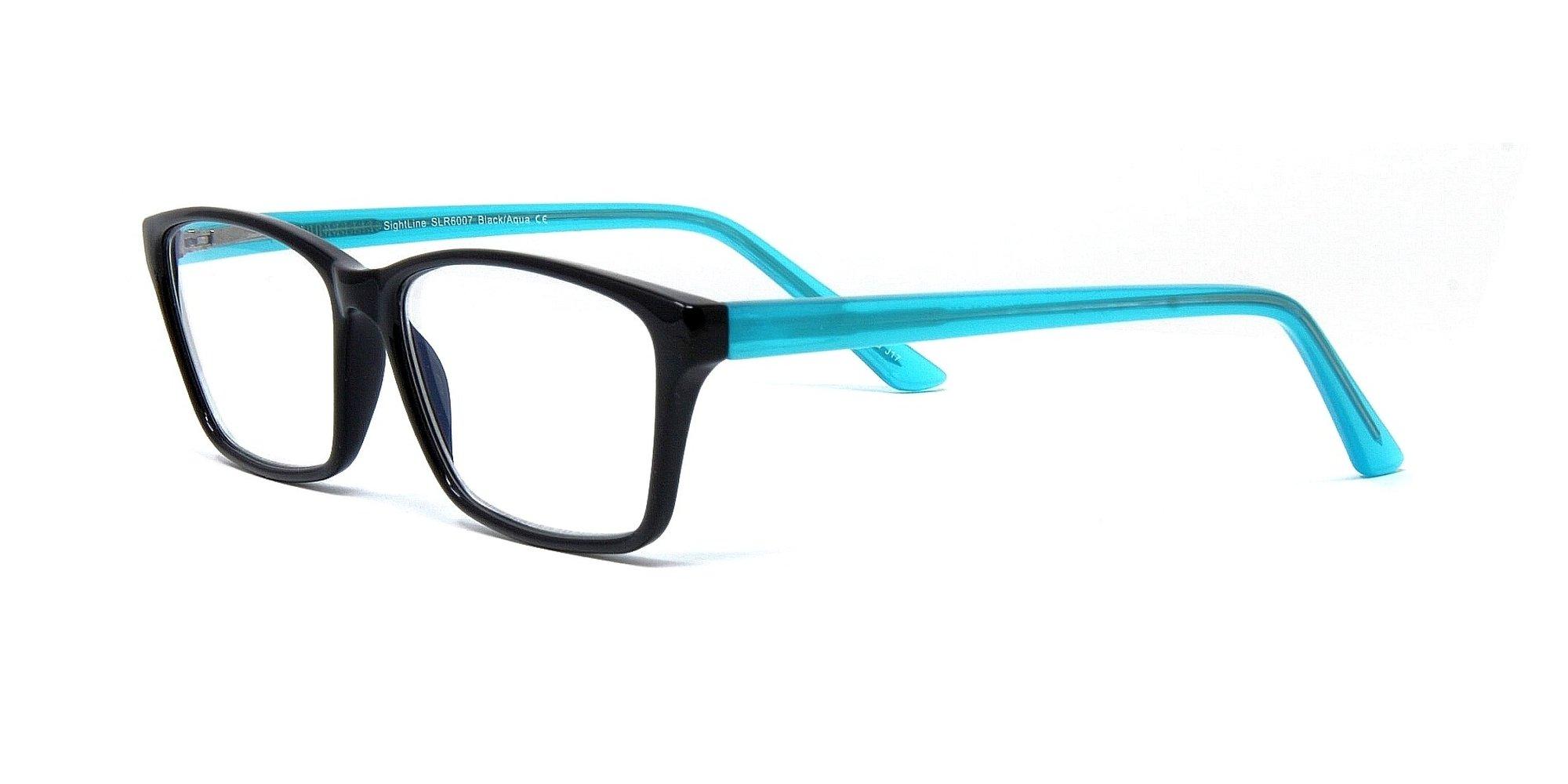 SightLine 6007 Multifocal Reading Glasses +2.50 Progressive Magnification Lenses With Anti-Glare Coating; Frame Size: 54-15/140