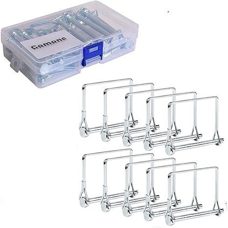 Yotako 12 piezas Heavy Duty Eje de bloqueo Pin Remolque acoplador Pin para Granja Remolques Wagons c/ésped Jard/ín 1//4 pulgadas de di/ámetro