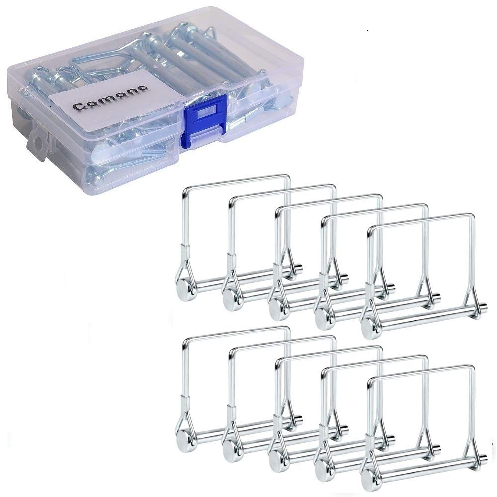 """10 PCS Trailer Coupler Pin Square Pto Pin Square Shaft Locking Pin 1/4 pin Hitch pin Safety Coupler Pin 1/4"""" x 2-3/4""""for PTO,Farm,Lawn,Hitches,and Garden"""
