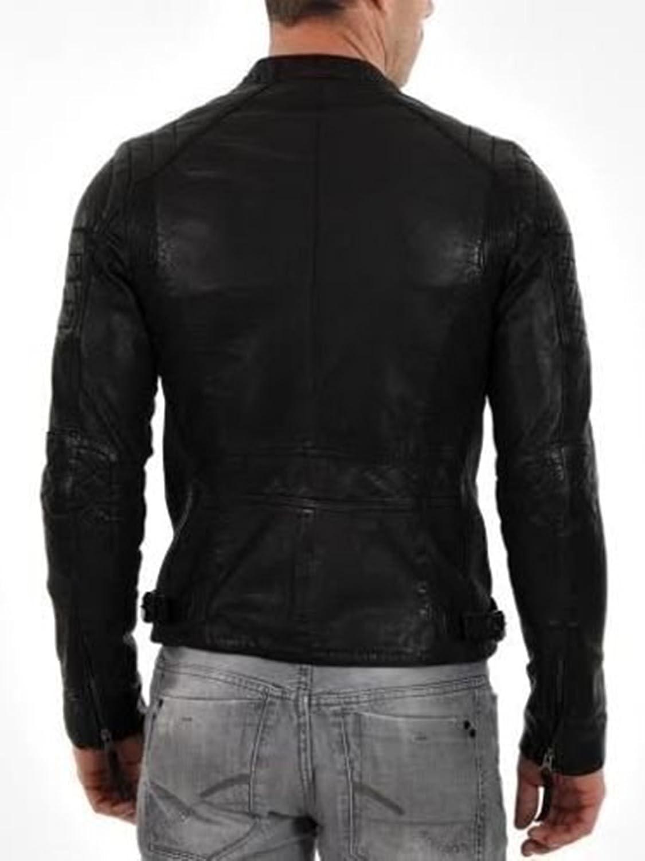 Lambskin Leather Mens Leather Jacket LSL628