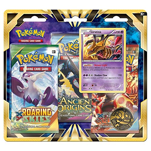 Card Giratina Pokemon - Pokemon TCG: Giratina Blister Pack Containing 3 Booster Packs And Featuring Foil Giratina And A Special Collector's Coin