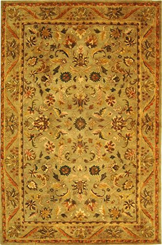 Traditional Rug - Antiquity Wool Pile -Olive/Gold Olive/Gold/Traditional/8'L x 8'W/Round - Safavieh Antiquities Olive
