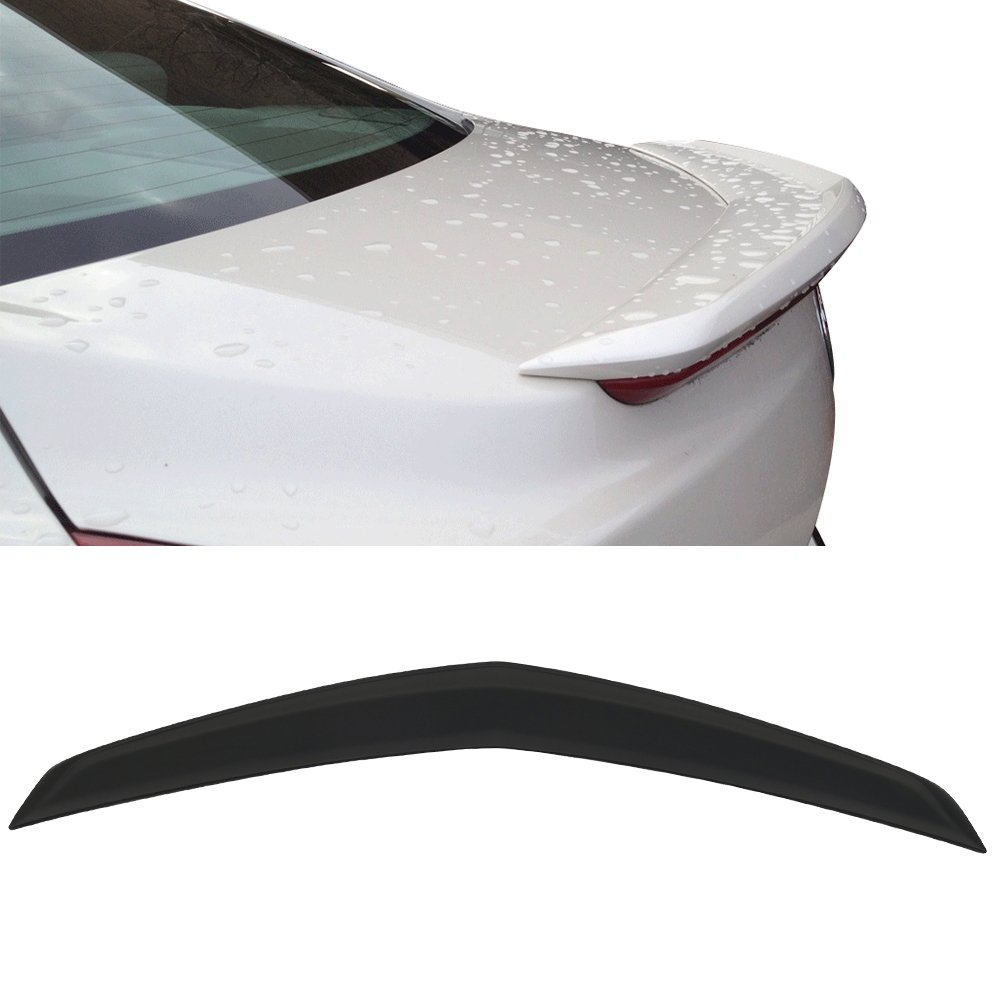 2014 2015 2016 2017 Factory Style Unpainted ABS Car Exterior Trunk Spoiler Rear Wing Tail Roof Top Lid by IKON MOTORSPORTS Trunk Spoiler Fits 2013-2018 Cadillac ATS