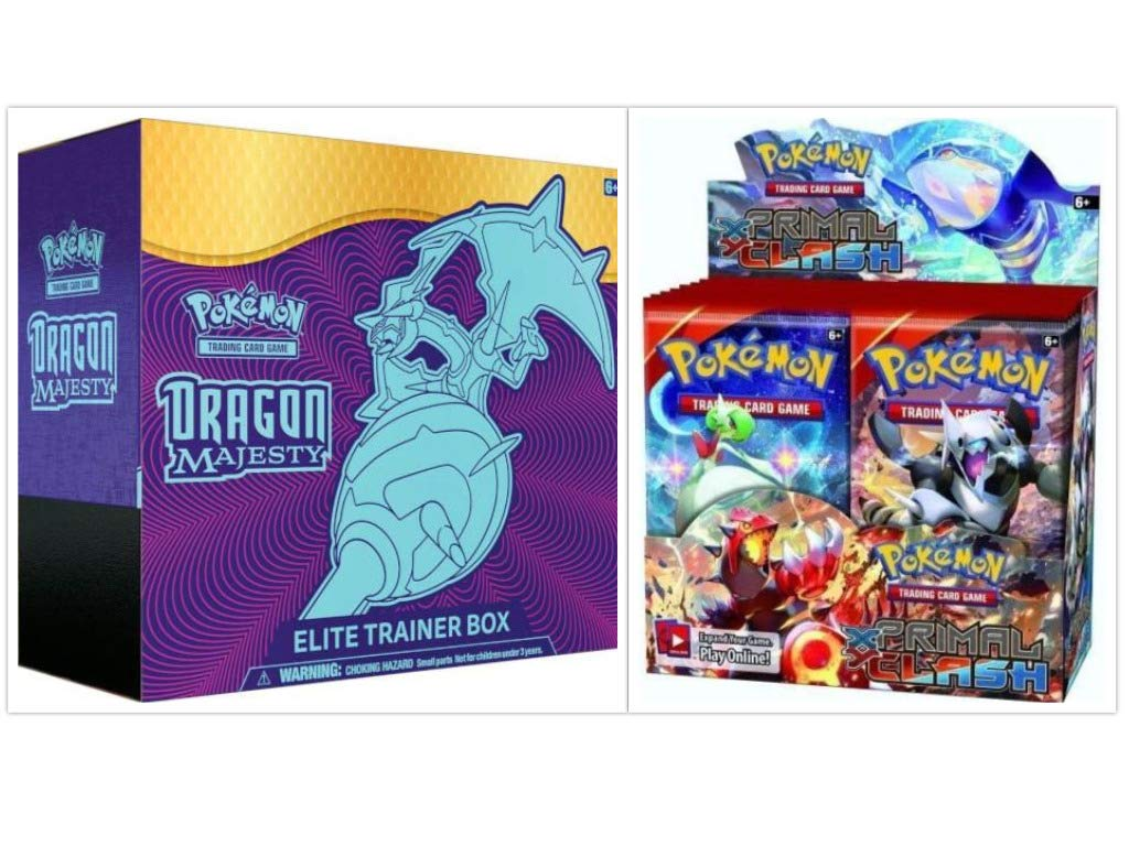 Pokémon Dragon Majesty Elite Trainer Box and Pokémon TCG Primal Clash Booster Box Bundle, 1 of Each