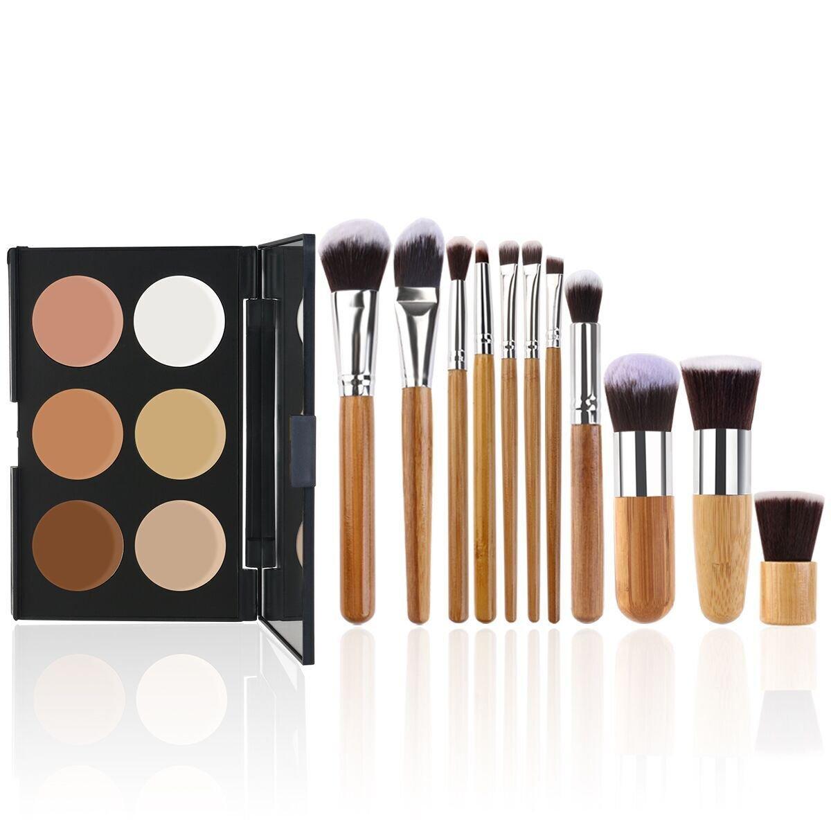 RUIMIO Contour Kit Cream Contour Palette 6 Colors with Makeup Brush Set