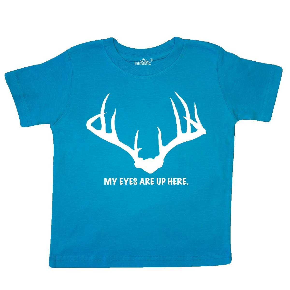 inktastic My Eyes are Up Here Toddler T-Shirt