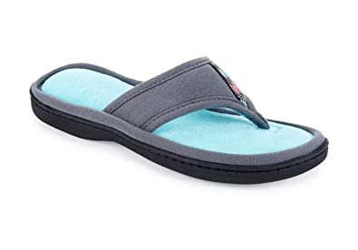 97800d63641 ISOTONER Jersey Luna Women s Summer Thong Slippers Flip Flop Style with  Foam Cushion (Small (