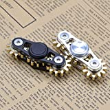 Fidget Hand Spinner 3 Gear Linkage Rotate EDC Tri Spin Finger Toy