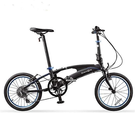 GYNFJK Bicicleta Plegable de 18 Pulgadas Velocidad Variable ...