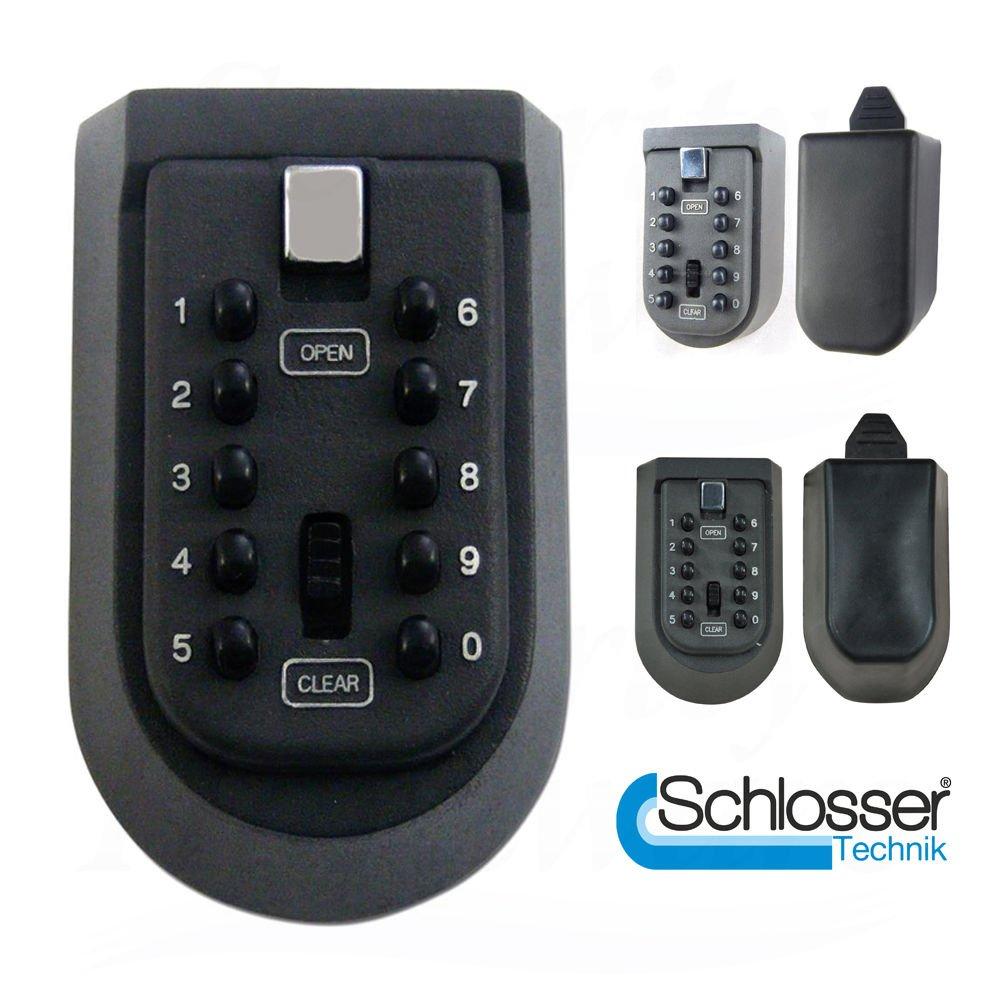 Casillero de almacenamiento para llaves con cerradura y có digo de seguridad para montar a la pared exterior Schlosser Technik