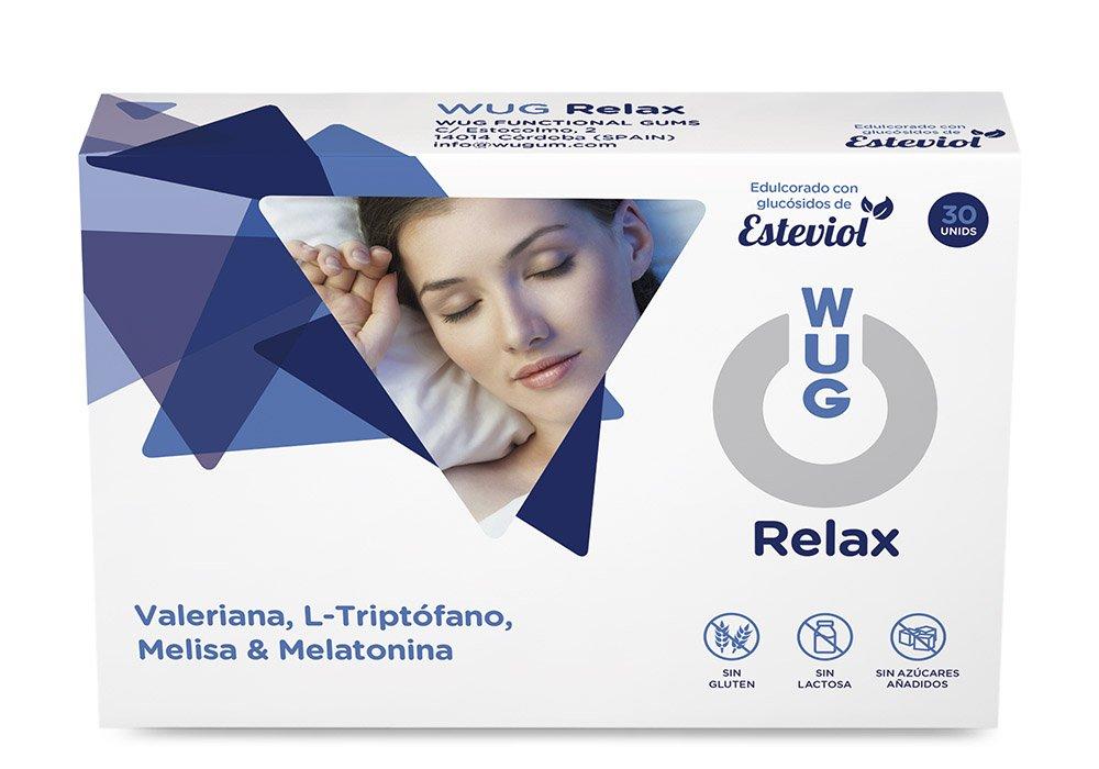 WUG Relax Chicle con Melatonina, Melisa y Valeriana 30 unidades: Amazon.es: Salud y cuidado personal