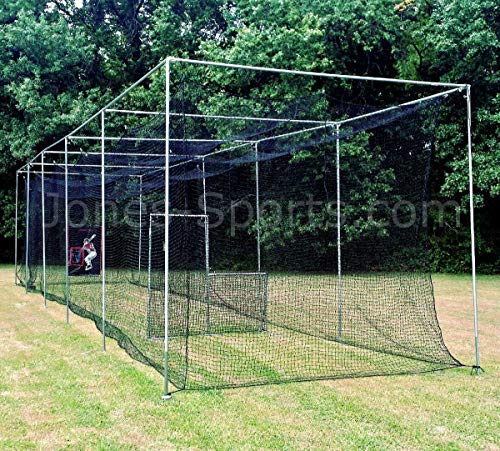 (Jones Sports 10' X 12' X ? 60PLY Heavy Duty #42 HDPE Batting CAGE with Frame KIT for Baseball, Softball, Backyard Sports (10' X 12' X)