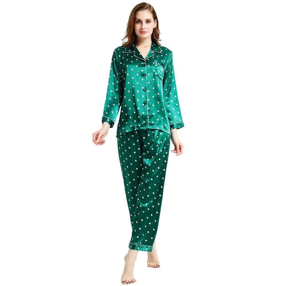 lonxu Juego de pijama de satén de seda para Hombre pijamas ropa S ~ 3 x l Plus _ Regalos Verde azul XL : Amazon.es: Ropa y accesorios