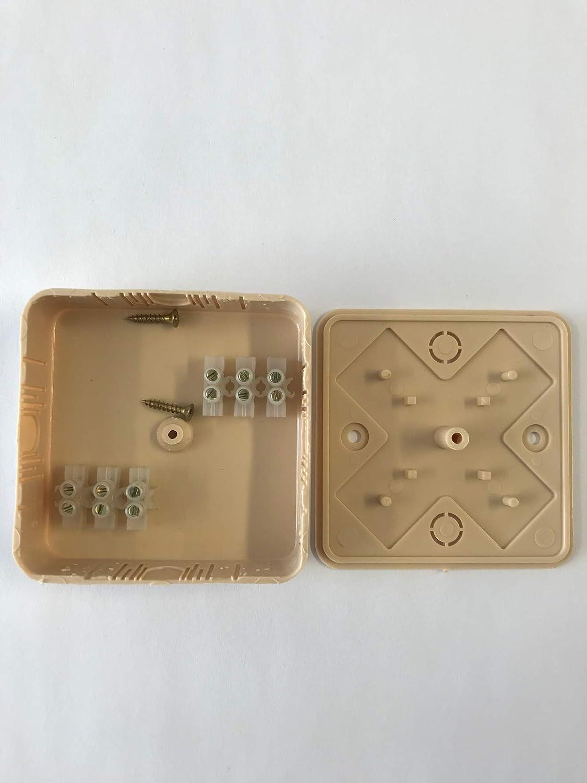 Bo/îte de jonction 75 x 75 x 20 mm en pin avec pinces
