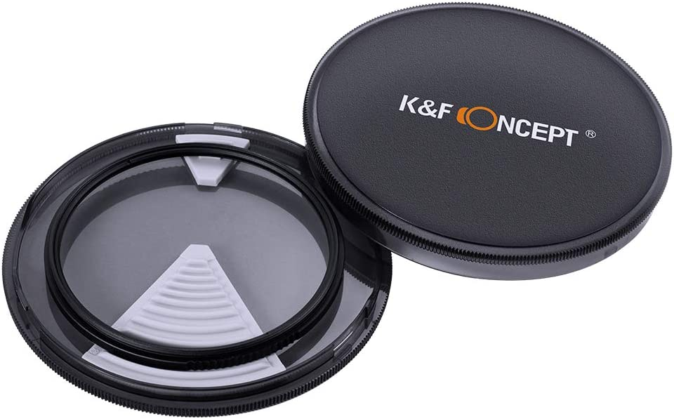 K/&F Concept 55MM Circular Polarizer Filter HD 18 Layer Super Slim Multi Coated CPL Lens Filter 55mm Circular Polarizers Filter