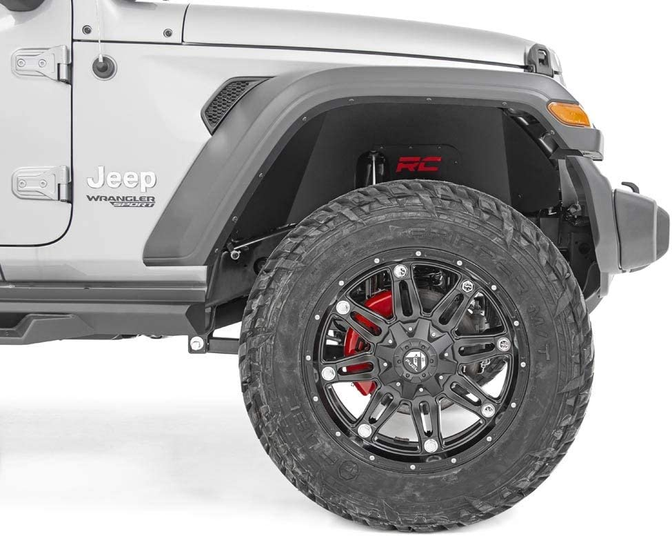 10497A 2018-2020 Jeep Wrangler JL Front Wheel Weel Armor Protection fits Rough Country Inner Fenders