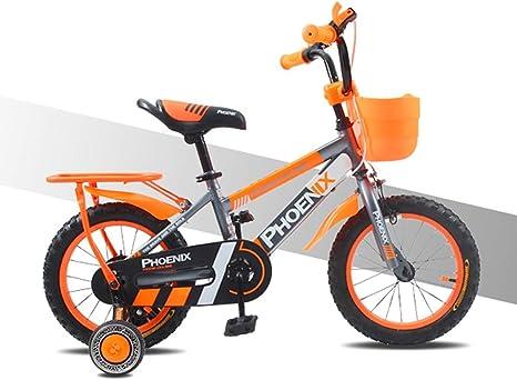 UOOGOU Bicicleta para niños Bicicleta de montaña de Aluminio de 14 Pulgadas con Ruedas auxiliares Bicicleta Exterior de Aluminio Bicicleta para niños: Amazon.es: Deportes y aire libre