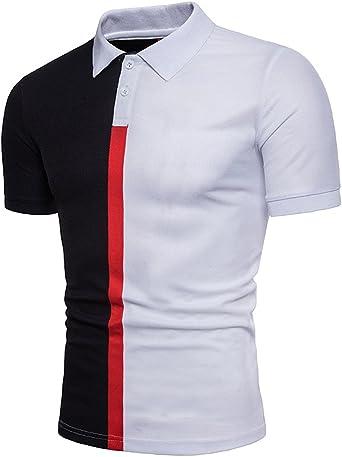 Polo para Hombre Manga Corta Casual Deporte Camisas Cuello ...
