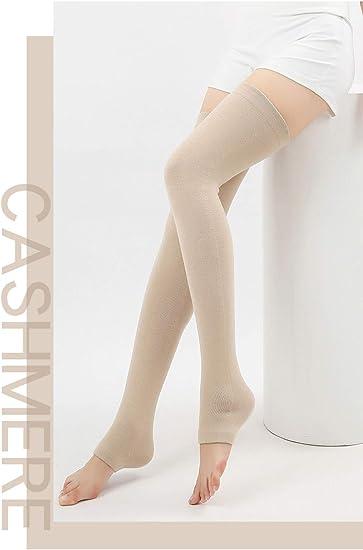 Winddicht Socken F/ür Pilates Yoga Ballett Tanzen Paar Mit Strumpfhose Schwarze Mittellange Schenkel Hoch Bein Knie Kn/öchel Warmers Stulpen Damen,Frauen Stricken Solid Cashmere Bein Sport Warmers