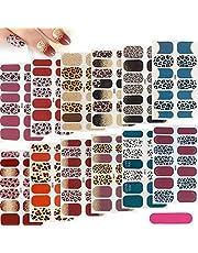 12 Vellen Nagelstickers, Luipaardprint Nagel Sticker Set, Zelfklevende Nagellak Stickers, Nagelkunststickers Strips Nagels voor Dames en Meisjes Manicure Aankleden, met Nagelvijl