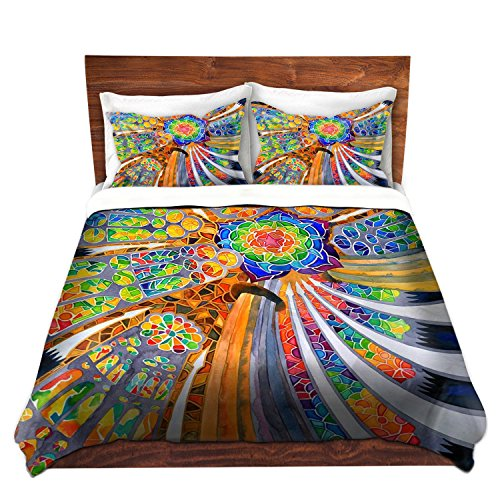 DiaNoche Designs Rachel Brown Unique Home Decor Bedding Ideas Sagrada Familia Barcelona Spain Cover, 8 King Duvet Sham Set by DiaNoche Designs