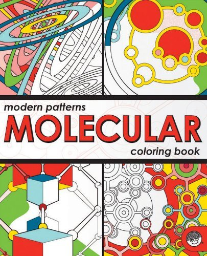 Modern Patterns Molecular Colouring Book
