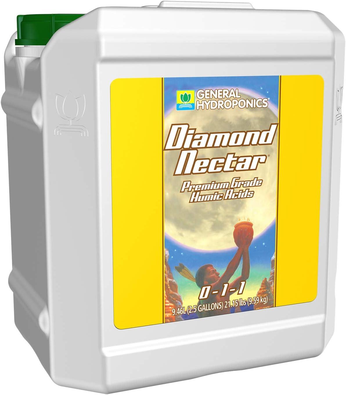 General Hydroponics HGC732170 Diamond Nectar 0-1-1 Premium Grade Humic Acid for Soil, Soilless Mixes, Coco & Hydroponics 2.5-Gallon