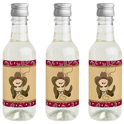 Little Cowboy - Pegatinas para botellas de vino y champán, diseño ...