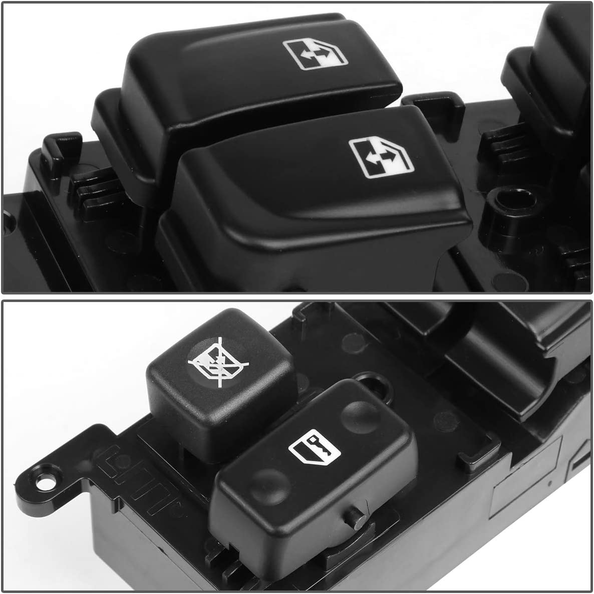 DNA Motoring WSW-035 Factory Style Driver Side Master Power Window Lifter Switch For HYUNDAI SONATA 2005-2007 Black