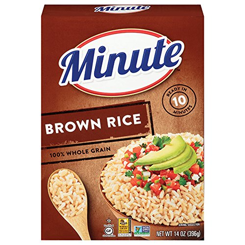 Minute Instant Rice, Brown, 14-Ounce (Pack of 12)