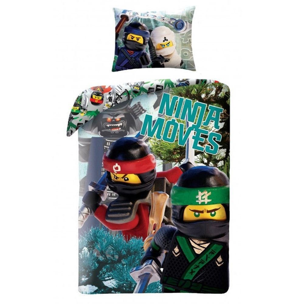LEGO Ninjago Bedding LEG570BL Children's Bed Linen 140x200 cm + 70x90 cm