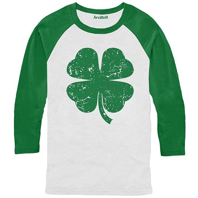 be3dae4902fff Arvilhill St Patrick's Day Men's Irish Long Sleeve Raglan Shirt