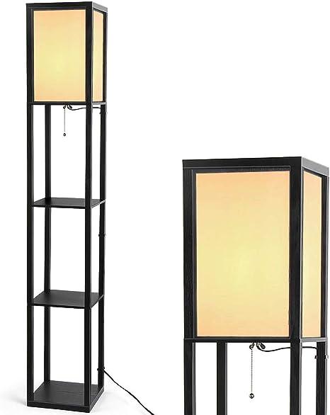 Floor Lamp With Shelves Organizer Storage Shelf Floor Lamps For