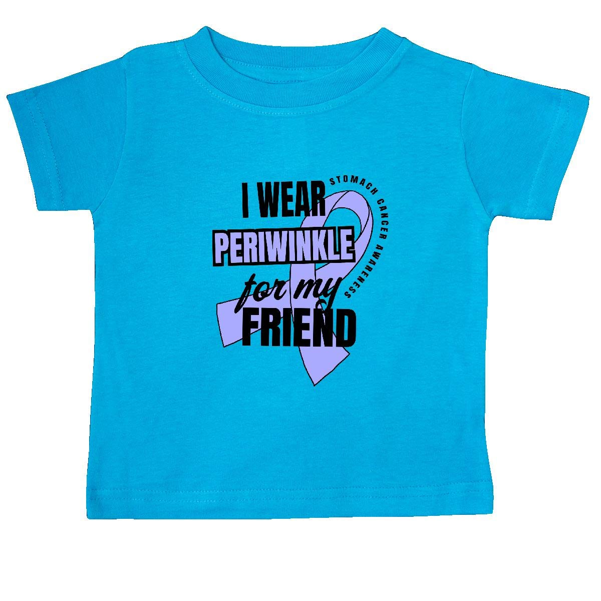 inktastic I Wear Periwinkle for My Friend Stomach Cancer Awareness Baby T-Shirt