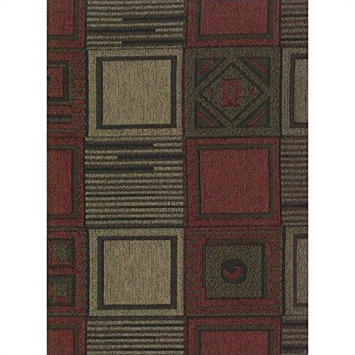 Blazing Needles Jaquard Chenille Full Size Futon Cover in Tetris-8